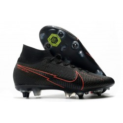 Nike Mercurial Superfly 7 Elite SG-Pro Anti Clog Noir Rouge