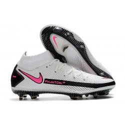 Chaussures Nike Phantom Gt Elite Df Fg Blanc Rose Noir