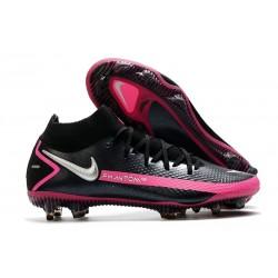 Chaussures Nike Phantom Gt Elite Df Fg Noir Argent Rose