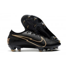 Crampon Nike Mercurial Vapor 13 Elite FG Noir Or