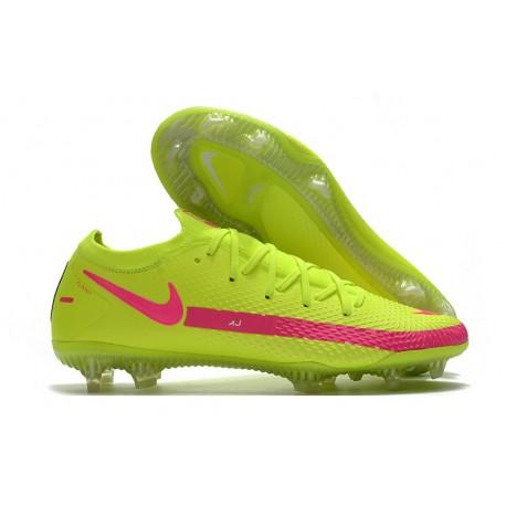 Nike Phantom GT Elite FG Chaussures de Football - Vert Rose