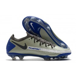 Nike Phantom GT Elite FG Chaussures de Football - Bleu Gris Noir