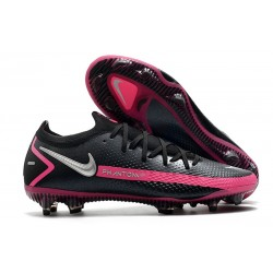 Nike Phantom GT Elite FG Chaussures de Football - Noir Argent Rose