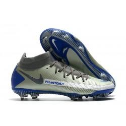 Chaussures Nike Phantom Gt Elite Df Fg Gris Bleu