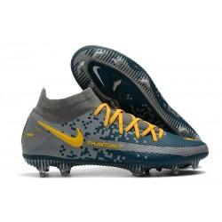 Chaussures Nike Phantom Gt Elite Df Fg Gris Bleu Jaune