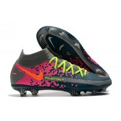 Chaussures Nike Phantom Gt Elite Df Fg Bleu Rose Orange