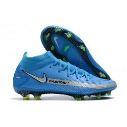 Nike Phantom GT Elite DF FG Homme Bleu Argent