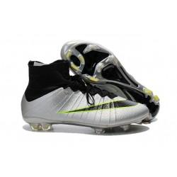 Meilleure Chaussures Nouveau Nike Mercurial Superfly FG Homme Argent Noir