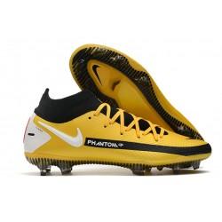 Chaussures Nike Phantom Gt Elite Df Fg Jaune Noir Blanc