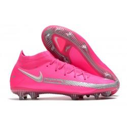 Chaussures Nike Phantom Gt Elite Df Fg Rose Argent