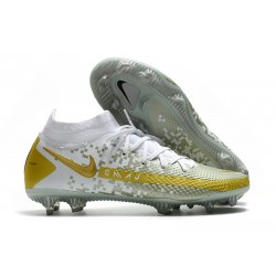 Nike Phantom GT Elite DF FG Homme Blanc Or