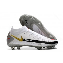 Nike Phantom GT Elite DF FG Homme Blanc Noir Rouge Or