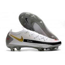 Crampon Nouveaux Nike Phantom GT Elite FG Blanc Noir Or