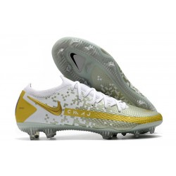 Nike Phantom GT Elite FG Chaussures de Football - Blanc Or