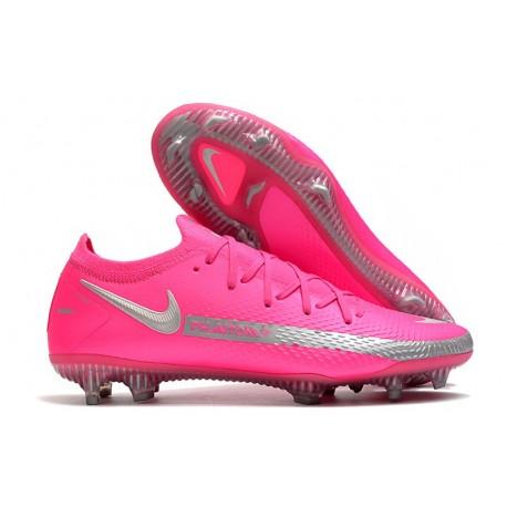 Nike Phantom GT Elite FG Chaussures de Football - Rose Argent