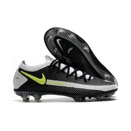 Nike Phantom GT Elite FG Chaussures de Football - Noir Gris Jaune