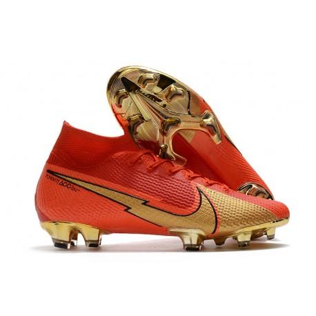 Nike Mercurial Superfly VII Elite DF FG Ronaldo CR100 Rouge Or