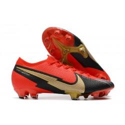 Crampon Nike Mercurial Vapor 13 Elite FG Rouge Noir Or