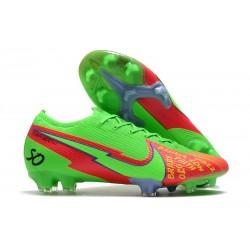 Crampon Nike Mercurial Vapor 13 Elite FG Vert Rouge