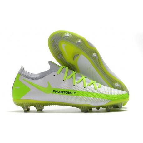 Crampon Nouveaux Nike Phantom GT Elite FG Blanc Jaune