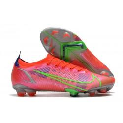 Nike Mercurial Vapor 14 Elite FG Chaussures Rubis Argent Metallique