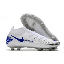 Nike Phantom GT Elite DF FG Homme Blanc Bleu