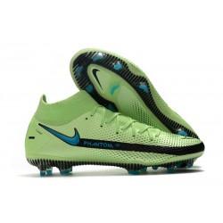 Nike Phantom GT Elite DF FG Homme Vert Noir Bleu