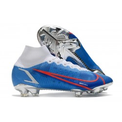 Nike Mercurial Superfly 8 Elite FG Crampons Bleu Blanc Rouge