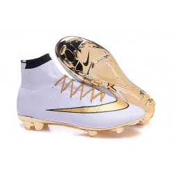 Nouvelles 2016 Nike Mercurial Superfly FG ACC Crampons Football Blanc Or