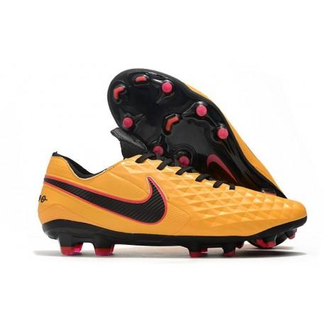 Chaussure Nike Tiempo Legend 8 Elite FG ACC Orange Noir